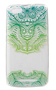 용 투명 패턴 케이스 뒷면 커버 케이스 꽃장식 소프트 TPU 용 Wiko Wiko Lenny 3
