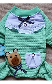 Perros Abrigos Verde Morado Rosado Ropa para Perro Invierno Un Color Adorable