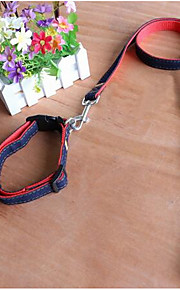 Dog Leash Adjustable/Retractable Safety Plaid/Check Red Blue Yellow Rubber