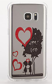 For Samsung S7 edge S7 Shockproof Pattern Case Back Cover Case Cartoon Heart Soft TPU  S6 S5