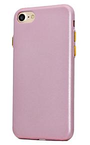 För Plätering Frostat fodral Skal fodral Enfärgat Mjukt TPU för AppleiPhone 7 Plus iPhone 7 iPhone 6s Plus iPhone 6 Plus iPhone 6s iPhone