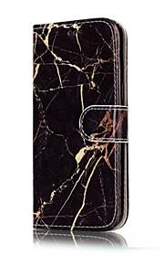 For Pung Kortholder Med stativ Flip Mønster Etui Heldækkende Etui Marmor Hårdt Kunstlæder for SamsungA3 (2017) A5 (2017) A5(2016)