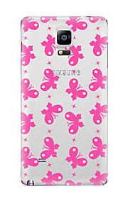 Til Gjennomsiktig Mønster Etui Bakdeksel Etui Sommerfugl Myk TPU til Samsung Note 5 Note 4 Note 3 Note 2