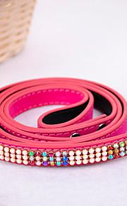 Hundar Koppel Justerbara/Infällbar Solid Nylon Svart Purpur Röd