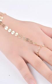 Dame Kæde & Lænkearmbånd Smykker Mode Legering Line Guld Sølv Smykker For Fest Speciel Lejlighed 1 Stk.