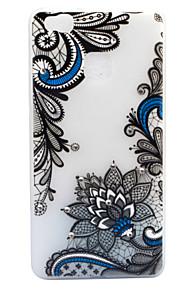 For Rhinsten Lyser i mørket Syrematteret Gennemsigtig Mønster Etui Bagcover Etui blondedesign Blomst Blødt TPU for HuaweiHuawei P9 Lite