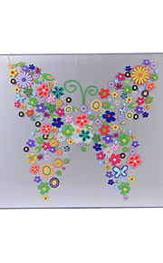 for macbook luft 11,6 13,3 13,3 pro retina kassedekslet med blomstermønster pc hardt beskyttende skall matt gjennomsiktig