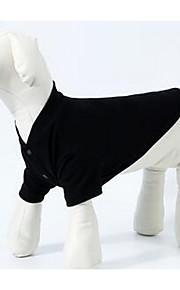 개 티셔츠 강아지 의류 여름 솔리드 귀여운 캐쥬얼/데일리 블랙 그레이 레드