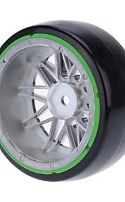 Geral RC Tire Pneu RC Carros / Buggy / Caminhões Verde Borracha Plástico