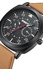 Mulheres Relógio de Moda Quartzo Couro Banda Cáqui Branco Preto