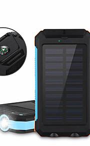 6000mAh전원 은행 외부 배터리 태양열 충전 멀티 출력 플래쉬 라이트 6000 2000 태양열 충전 멀티 출력 플래쉬 라이트