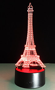 romantisch Frankrijk Eiffeltoren 3D LED 's nachts licht rgb veranderlijke stemming lamp usb decoratieve tafellamp kinderen vrienden gift