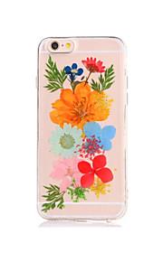 Per Fai da te Custodia Custodia posteriore Custodia Fiore decorativo Morbido TPU per AppleiPhone 7 Plus iPhone 7 iPhone 6s Plus iPhone 6