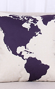 1 pçs Linho Cobertura de Almofada Fronha,Textura Náutico Vida Imóvel Estampas AbstratasModerno/Contemporâneo Casual Escritório/Negócio Ao