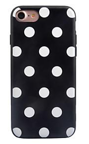 För Läderplastik Mönster fodral Skal fodral Geometriska mönster Kakel Hårt Akrylfiber för AppleiPhone 7 Plus iPhone 7 iPhone 6s Plus