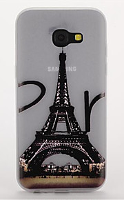 For Samsung A3(2017) A5(2017) Glow in the Dark Frosted Pattern Case Back Cover Case Eiffel Tower Soft TPU  A7(2017)