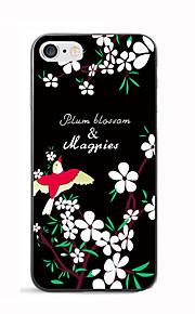 Para Estampada Capinha Capa Traseira Capinha Flor Macia TPU para AppleiPhone 7 Plus iPhone 7 iPhone 6s Plus iPhone 6 Plus iPhone 6s