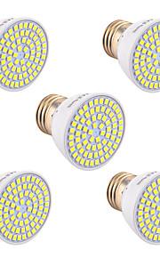7W GU10 GU5.3(MR16) E26/E27 LED-spotpærer 72 SMD 2835 600-700 lm Varm hvit Kjølig hvit Naturlig hvit Dekorativ V 5 stk.