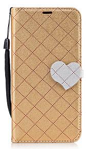Для samsung galaxy j7 (2017) j5 (2017) алмазный узор сердце магнитная пряжка pu кожаный материал кошелек функция телефон кейс для j510