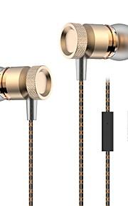 Metalowe słuchawki basowe 3.5mm w ucho słuchawki słuchawki stereo dj hifi zestaw słuchawkowy bas dla samsung iphone xiaomi
