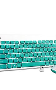 K1500 ultra silencioso portátil botton oficina teclado inalámbrico y ratón combinado