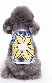 고양이 개 티셔츠 조끼 강아지 의류 여름 꽃장식 귀여운 패션 캐쥬얼/데일리