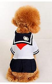 犬用品 ドレス 犬用ウェア 夏 プリンセス キュート カジュアル/普段着 ファッション ブラック/ホワイト