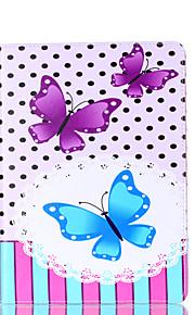 Voor Samsung Galaxy Tab een 9,7 a 7,0 e 9,6 case cover vlinder patroon kaart stent pu materiaal vlakke bescherming shell