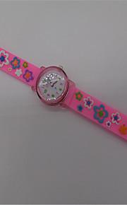 Mulheres Relógio de Moda Quartzo Borracha Banda Rosa