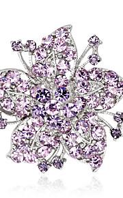 Dame Brocher Mode Euro-Amerikansk Rhinsten Legering Blomstformet Smykker For Bryllup Fest Speciel Lejlighed Daglig