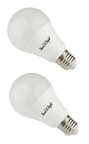 12W B22 E26/E27 LED-globepærer 24 SMD 5730 900 lm Varm hvit Kjølig hvit AC 85-265 V 2 stk.