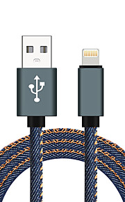 Lightning USB 2.0 Flätad Höghastighets Kabel Till iPhone iPad MacBook MacBook Air MacBook Pro cm Nylon Aluminium