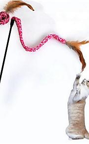 고양이 장난감 반려동물 장난감 인터렉티브 티저 견고함 플라스틱 패브릭 랜덤 색상
