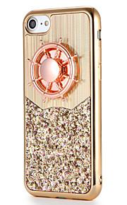 För apple iphone 7 7plus fodral täcka fidget spinner mönster diy baksida cover glitter glans mjuk tpu 6s plus 6 plus 6s 6