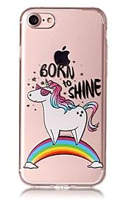 För apple iphone 7 7 plus 6s 6 plus se 5s 5 case cover cartoon hästmönster målade lättnad hög penetration tpu material telefonväska