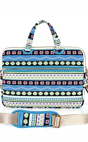 13.3 14.1 15.6 inch Snowflakes Pattern Laptop Shoulder Bag with Strap Hand Bag for Surface/Dell/HP/Samsung/Sony etc