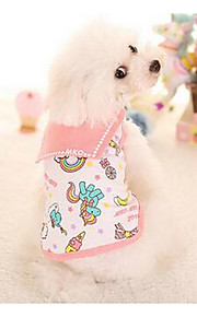 Hundar Klänningar Hundkläder Mode Ledigt/vardag Prinsessa Gul Rosa