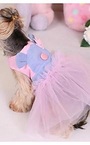Hunde Kleider Hundekleidung Modisch Lässig/Alltäglich Prinzessin Purpur Rosa
