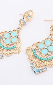 Dråbeøreringe Smykker Personaliseret Euro-Amerikansk Mode Ædelsten Legering Smykker Smykker For Bryllup Speciel Lejlighed 1 Par