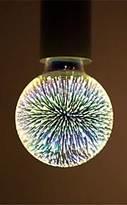 4W E27 LED-globepærer G95 28 Integrert LED 350 lm Varm hvit Dekorativ AC 85-265 V 1 stk.