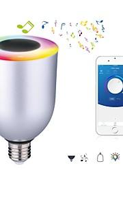 7W E26/E27 Smart LED-lampe 12 SMD 5050 600 lm Kjølig hvit RGB Dimbar Bluetooth AC 100-240 V 1 stk.