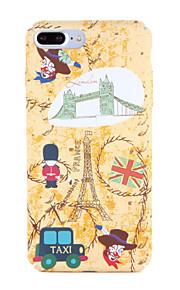 Para Apple iphone 7 7plus caso de padrão capa de capa traseira cartoon torre eiffel hard pc 6s plus 6 plus 6s 6