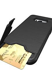 Per Porta-carte di credito Resistente agli urti Custodia Custodia posteriore Custodia Tinta unita Resistente PC per Samsung S8 S8 Plus