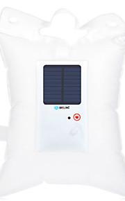 Brelong draagbare opblaasbare led zonne-lantaarn zaklamp - transparant