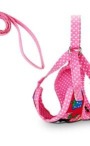 귀여운 딸기 도트 개 묶음 120cm 가죽 레드 블랙 애완 동물 장미 제품