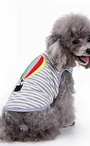 Gatos Cães Camiseta Colete Roupas para Cães Verão Bordado Fofo Da Moda Casual