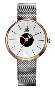 SK Mulheres Relógio de Moda Bracele Relógio Japanês Quartzo Impermeável Resistente ao Choque Lega Banda Pendente Casual Preta PrataPreto
