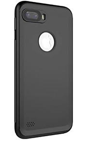 För iphone 7 7plus 6s 6 6plus 6s plus fodral täcka ny fancy ren färg saknas standard imitation pu material med knappsektion vattentät