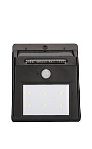 Gmy® ledet solens bevegelsessensorlampe 6led kule hvitt menneskekroppsensorene 1pcs