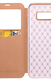 Per la galassia ss8 di Samsung e la copertura di caso s8 con il basamento con le finestre di cuoio duro del puolo di colore solido di